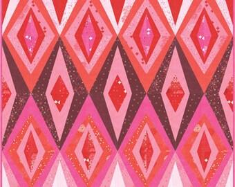 Just Red Quilt Kit - Zen Chic- Moda Fabrics - Bohemian Spark - KIT1700