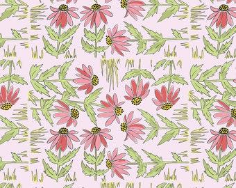 SALE!! 1/2 Yard - Color Fusion - Daisy - Pink - Laura Heine - Freespirit - Fabric Yardage - PWLH018.PINK