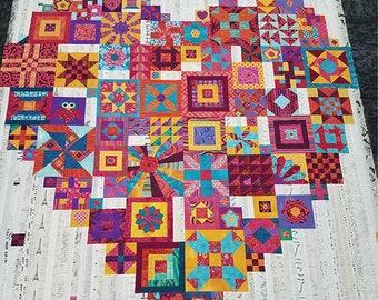 Boho Heart Quilt Pattern - Jen Kingwell - Jen Kingwell Designs - JKD 8588