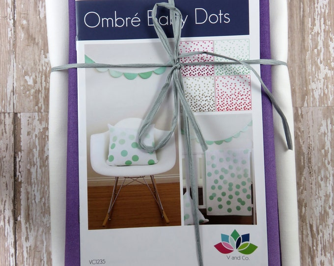 Ombre Baby Dots - Aubergine - Baby Quilt Pillow Banner Pattern Fabric Kit  - Moda - V and Co - Vanessa Christenson 10800 224