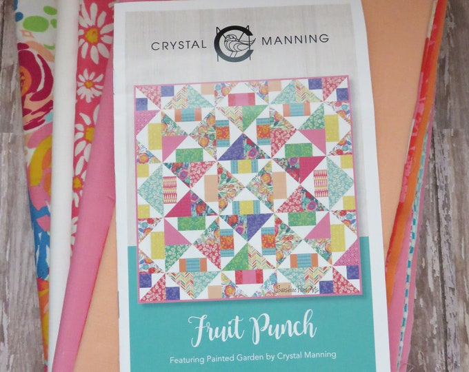 Fruit Punch Quilt Pattern Fabric Kit - Moda - Crystal Manning - CMA 820 - Painted Garden Fabric Collection