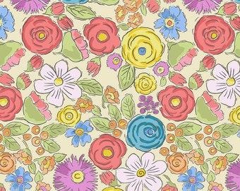 SALE!! 1/2 Yard - Color Fusion - Bouquet - Yellow - Laura Heine - Freespirit - Fabric Yardage - PWLH020.YELLOW