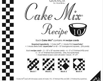 Cake Mix Recipe #10 - Quilt Pattern - Layer Cake Friendly - Miss Rosie's Quilt Company
