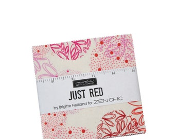 Just Red - Zen Chic - Brigitte Heitland - Moda - 42 Pieces - Charm Pack - 42 Pieces - 1700PP