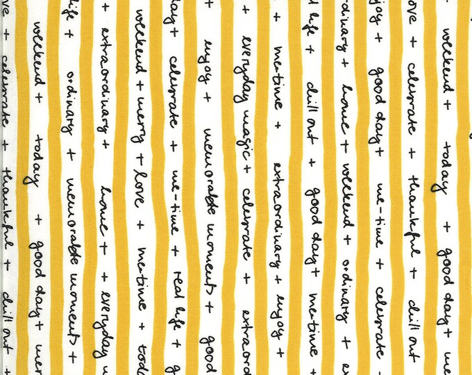 1/2 Yard - Quotation - Mustard - Zen Chic - Moda - Fabric Yardage - 1732 13