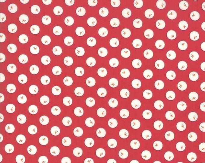 1/2 Yard - Country Christmas - Cardinal Red - Bunny Hill Designs - Moda - Fabric Yardage - 2963 12