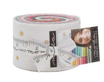 """Ombre Confetti Metallic - Vanessa Christenson - V and Co - Moda - 20 Pieces - 2 1/2"""" Strips - JUNIOR Jelly Roll - 10807JJRMN"""