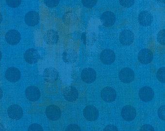 SALE!! 1/2 Yard - Grunge Hits the Spot - Sapphire - BasicGrey - Moda - Fabric Yardage - 30149 27