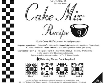 Cake Mix Recipe #9 - Quilt Pattern - Layer Cake Friendly - Miss Rosie's Quilt Company
