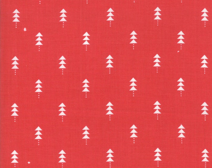 1/2 Yard - Little Tree - Cranberry - Lella Boutique - Moda - Fabric Yardage - 5094 13