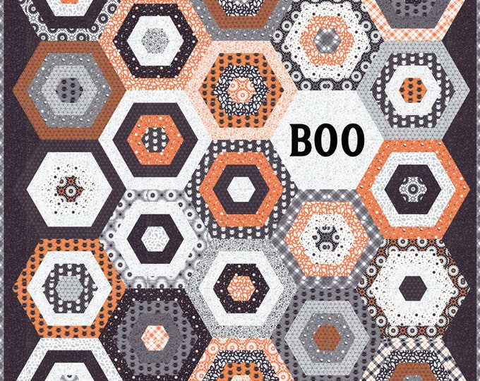 Boo Quilt Kit - April Rosenthal - Prairie Grass Patterns - Moda Fabrics - KIT24080