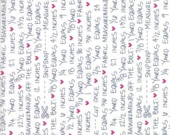 SALE!! 1/2 Yard - Spectrum Ombre - Notes - Indigo Paper - V and Co - Vanessa Christenson - Moda Fabrics - Fabric Yardage - 10863-22
