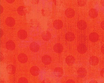 SALE!! 1/2 Yard - Grunge Hits the Spot - Tangerine - BasicGrey - Moda - Fabric Yardage - 30149 19