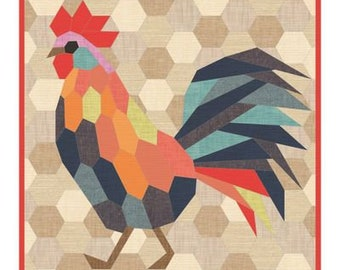 The Rooster - Quilt Pattern - English Paper Piecing - Violet Craft - VC026