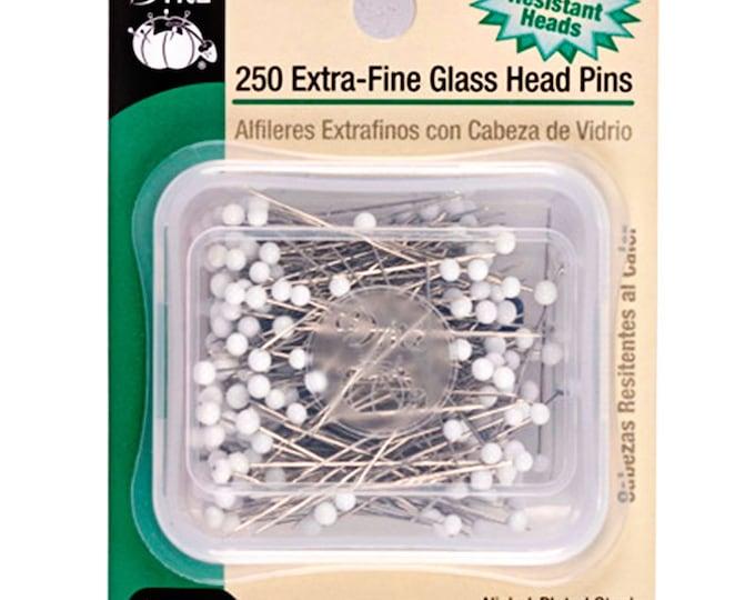"Dritz Glass Head Pins - Extra Fine - 1 3/8"" - 250 pc - Dritz 61"