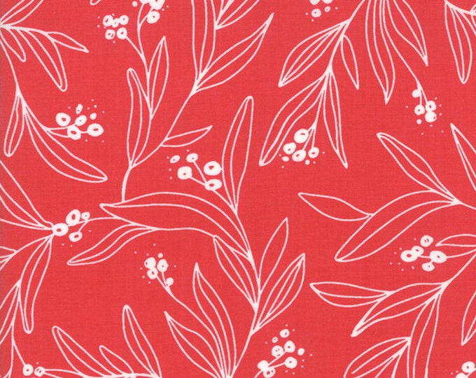 1/2 Yard - Little Tree - Cranberry - Lella Boutique - Moda - Fabric Yardage - 5092 23