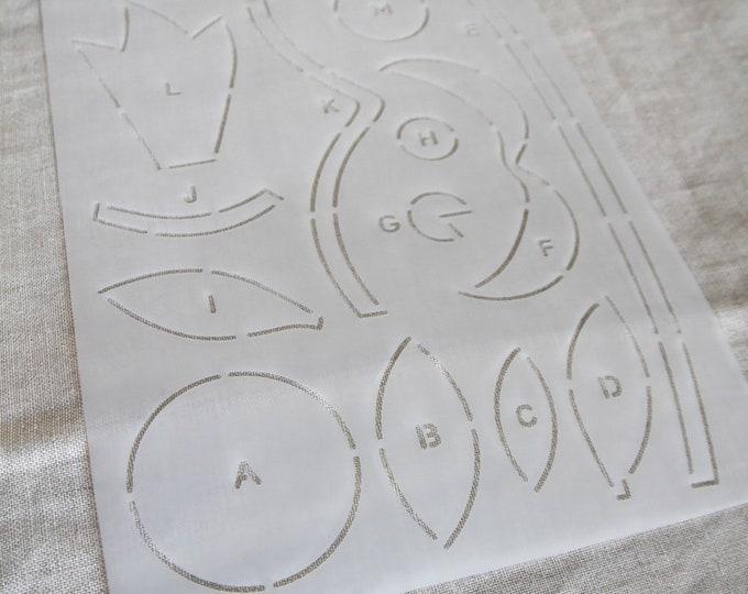 Stencil - Midnight Blooms - Edyta Sitar - Laundry Basket Quilts - Moda - LBQ-MB02-P
