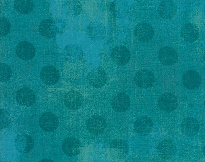 1/2 Yard - Grunge Hits the Spot - Ocean - BasicGrey - Moda - Fabric Yardage - 30149 31