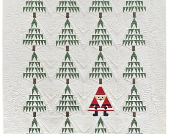 Santa In The Pines Quilt AND Table Runner Kit - Primitive Gatherings - Moda - KIT9900PINES