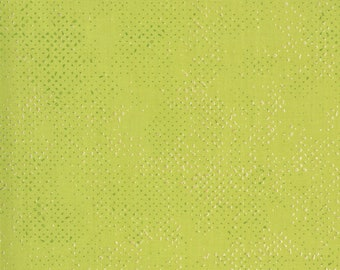 1/2 Yard - Dance in Paris - Spotted - Chartreuse - Zen Chic - Brigitte Heitland - Moda - Fabric Yardage - 1660 144M
