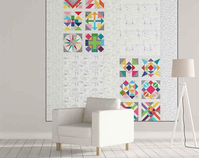 Spotted More Paper Quilt Pattern Fabric Kit - Brigitte Heitland - Moda - Zen Chic - KIT1660