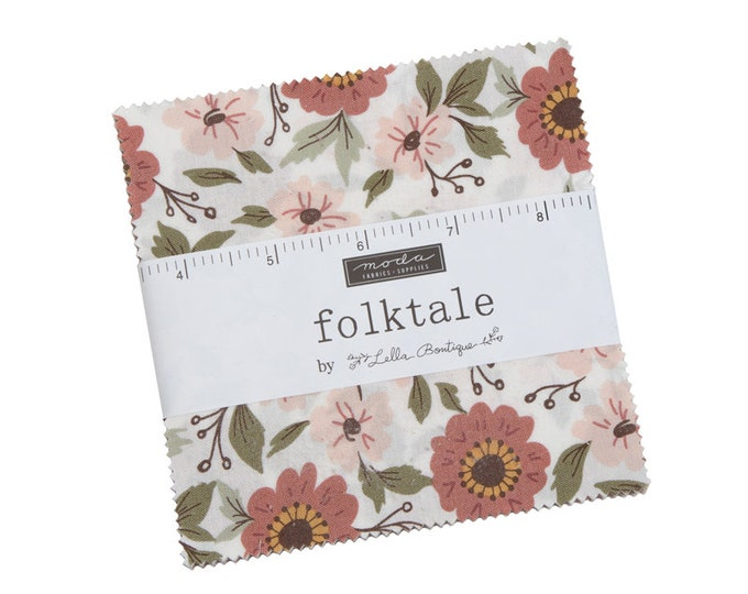 Folktale - Lella Boutique - Moda - 42 Pieces - Charm Pack - 5120PP