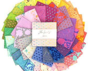 "Tula's True Colors - Tula Pink - FreeSpirit - 42 Pieces - 5"" Squares - Charm Pack - FB6CPTP.TULATRUE"