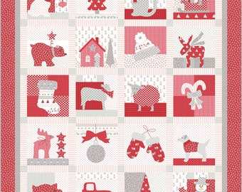 Country Christmas Quilt Kit - Bunny Hill Designs- Moda Fabrics - KIT2960