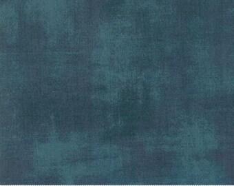 1/2 Yard - Grunge Basics NEW - Deep Teal - BasicGrey - Moda - Fabric Yardage - 30150 487