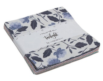 """One Canoe Two - Twilight - Moda - 42 Pieces - 5"""" Squares - Charm Pack"""