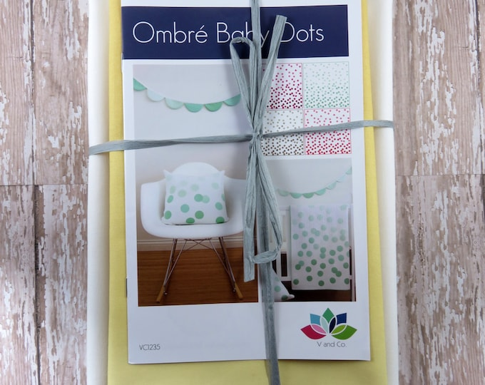 Ombre Baby Dots - Honey - Baby Quilt Pillow Banner Pattern Fabric Kit  - Moda - V and Co - Vanessa Christenson 10800 219