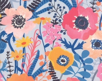 Sale!! 1/2 Yard - Botanica - Blue - Crystal Manning - Moda - Fabric Yardage - 11840 16