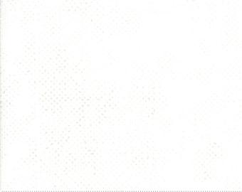 1/2 Yard - Spotted - White - Zen Chic - Moda - Fabric Yardage - 1660 11