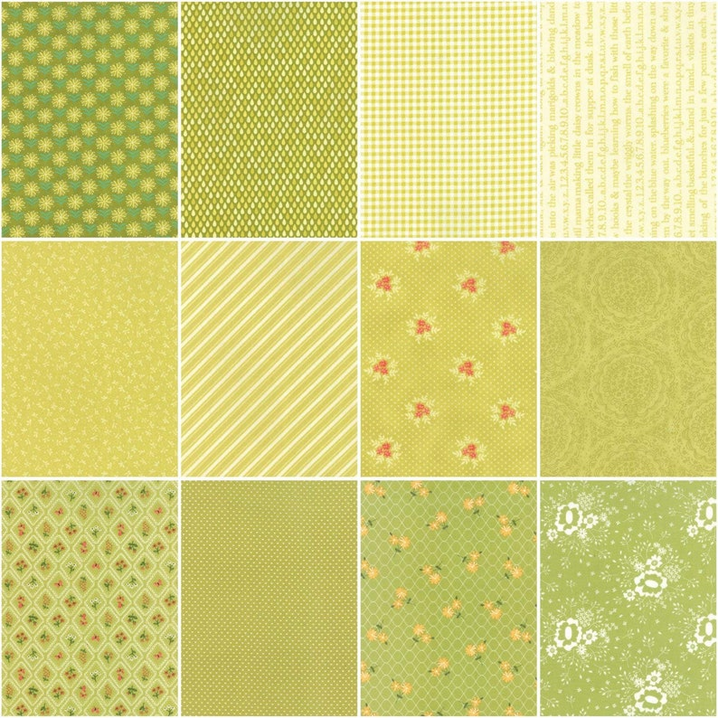 CCLC2 Sprouts 24 Pieces Layer Cake 10 Squares Moda Color Cuts