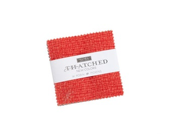 Thatched NEW - Robin Pickens - Moda - 25 Pieces - Mini Charm Pack - 48626MCN