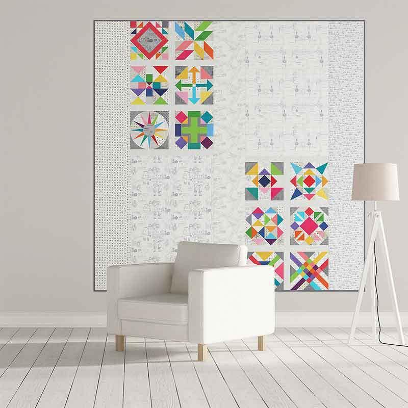 Repéré plus papier couette motif tissu Kit Kit Kit - Brigitte Heitland - Moda - Zen Chic - KIT1660 de9ff9