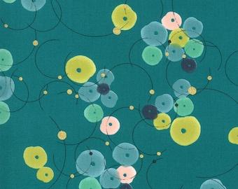 1/2 Yard - Dance in Paris - Turquoise - Zen Chic - Brigitte Heitland - Moda - Fabric Yardage - 1741 17M