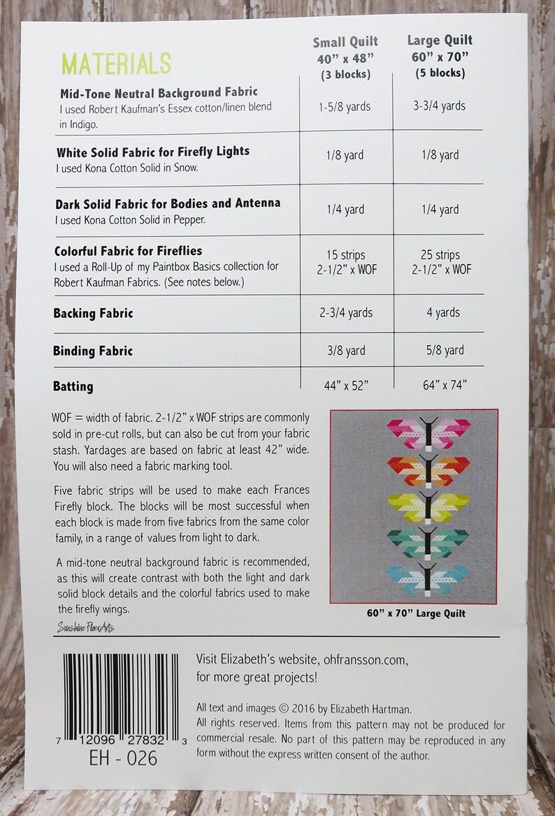 Paintbox Basics Frances Firefly Quilt Kit KITP-1687-6 Elizabeth Hartman Robert Kaufman