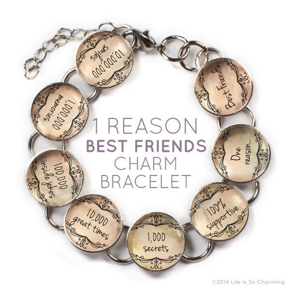 Best Friend Charm Bracelet: One Reason Best Friends Friendship Charm Bracelet With