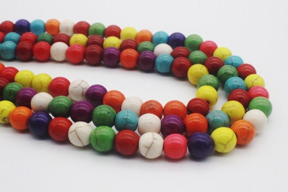 15 pce Colour Mix Synthetic Howlite Gemstone Fish Beads 25mm x 12mm