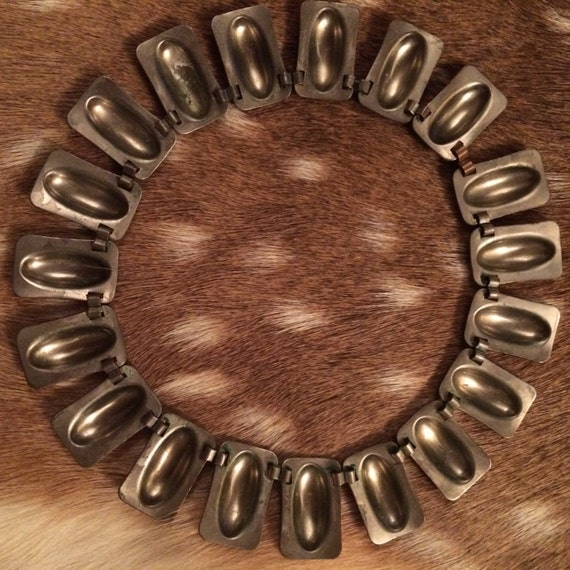 Egyptian Revival Copper Choker Necklace - image 4