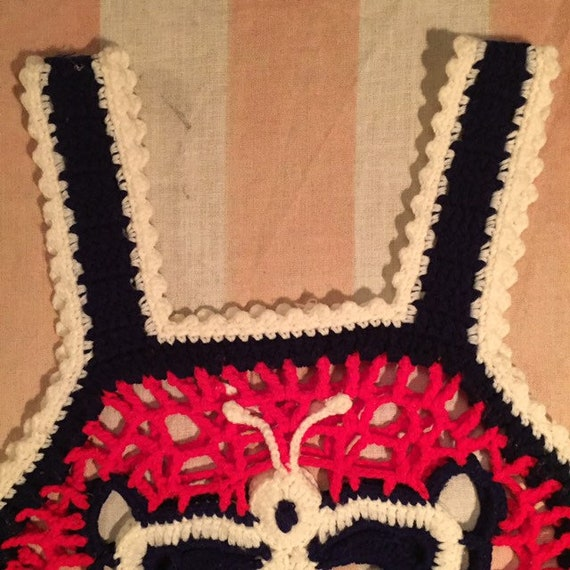 Butterfly Granny Square Red, White, And Blue Croc… - image 5