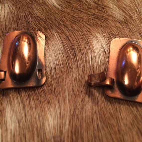 Egyptian Revival Copper Choker Necklace - image 3