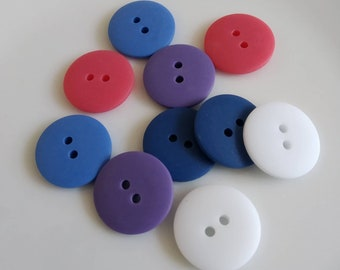 Fast Dispatch /& Free Postage 4 Sizes 20+ Colours Round Fish Eye Buttons 11mm // 18 Lignes,Turquoise,Pack of 10 Button