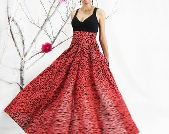 Maxi Skirt, High Waisted Skirt, Circle Skirt, Plus Size Skirt, Floor Length Skirt, Floral Skirt, Chiffon Skirt