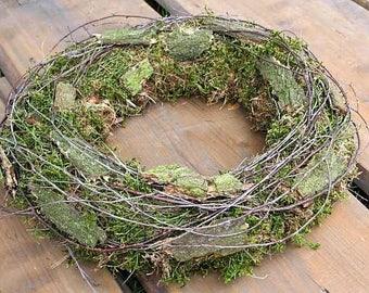 FRI-Collection Decorative wreath Door wreath Wall wreath Wreath Natural wreath fresh Country house 42 cm