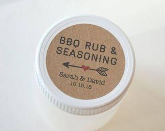"2"" Round Kraft Brown Sticker Label Tags - Custom Favor Stickers - BBQ Rub, BBQ Seasoning Stickers, Rub Labels, Spice stickers, Spice Labels"