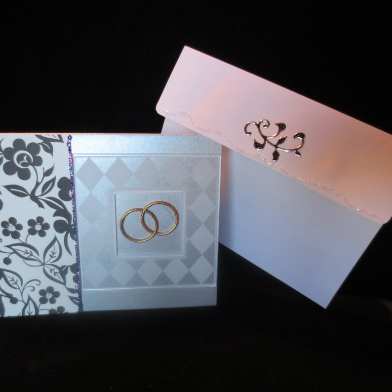 special anniversary card with gold rings  etsy