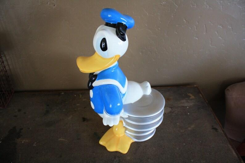 Disney Cookie Jar Etsy >> Vintage Disney Donald Duck Cookie Jar
