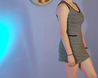 90s Tennis Grunge Rampage Mini Dress // Short Terry Cloth Sleeveless